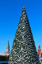 New year tree on red square moscow january christmas cultural centre of the city near kremlin january in city russia Stock Images