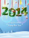 New year of twigs like christmas decoration winter landscape with congratulation qualitative vector eps illustration for years day Stock Photos