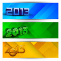 New year website header and banner set. Royalty Free Stock Photos