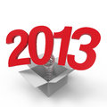 New year white background Stock Images