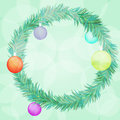 New year wreath decor Royalty Free Stock Photo
