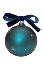 New years blue ball and bow Stock Images