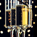 New years champagne three flutes of for Stock Photos