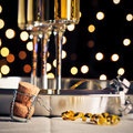 New years champagne three flutes of for Royalty Free Stock Photos