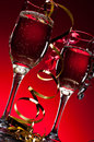 New years champagne two flutes of for Stock Images