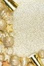 New Years Eve border on shiny gold background Royalty Free Stock Photo