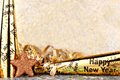 New Years Eve border with twinkling light background Royalty Free Stock Photo