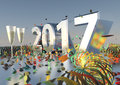 2017 New Years Eve Royalty Free Stock Photo
