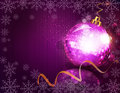 New years eve pink vector background with ball Stock Photography