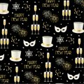 New years eve pattern Royalty Free Stock Photo