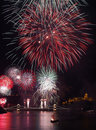 New years firework display ,2011 Royalty Free Stock Photos