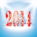 New years illustration with snowflakes on blue background funny Stock Photography