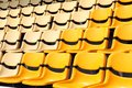 New yellow seat in stadium Stock Photos