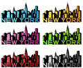 New york abstract six colors Royalty Free Stock Photography