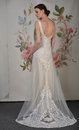 New york april a model poses for claire pettibone bridal presentation at pier during international fashion week on in Royalty Free Stock Photography