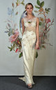 New york april a model poses for claire pettibone bridal presentation at pier during international fashion week on in Stock Images