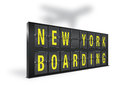 New york boarding sign board on a white background Royalty Free Stock Image