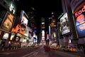 New York Broadway at night Royalty Free Stock Photo