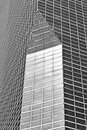 New york building details in black and white Stock Photo