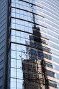 New York Building Reflection Royalty Free Stock Photo