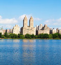 New York buildings from Central Park Royalty Free Stock Photo
