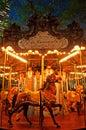New York: carousel in Bryant Park on Septenber 14, 2014 Royalty Free Stock Photo