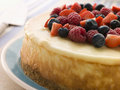 New York Cheesecake With Mixed Berries Stock Images