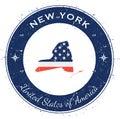 New York circular patriotic badge.