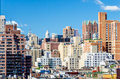 New york city aerial view of the nd avenue upper east side manhattan Stock Photography