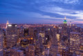 New york city aerial view at sunset Royalty Free Stock Photo
