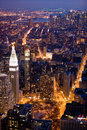 New York City alla notte Fotografia Stock