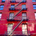 New York City Apartment Buildings Royalty Free Stock Images