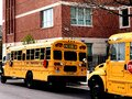 New york city - April 20 : school bus in Brooklyn - image Royalty Free Stock Photo