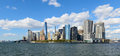 New york city beautiful view of financial district Royalty Free Stock Photo