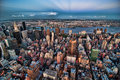 New York City bis zum Night Lizenzfreies Stockfoto