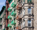 New york city block of buildings in manhattan Stock Image