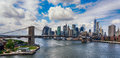 New york city and brooklyn bridge Stock Images