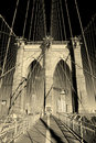 New York City Brooklyn Bridge closeup Royalty Free Stock Photography
