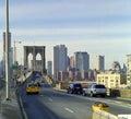 New York City Brooklyn Bridge Traffic Stock Images