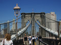 New York City Brooklyn Bridge Walk 5 Royalty Free Stock Photography