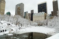 New York City Central Park in snow Royalty Free Stock Photo