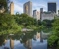 New york city central park south skyline august people enjoy under the along august in ny the opened in Stock Photos