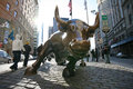 New york city charging bull in lower january the landmark manhattan represents the strength and power of the american people Stock Photo