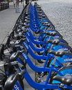 New york city citibikes Arkivbilder
