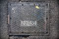 New York City electrical street box cover Royalty Free Stock Image