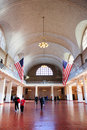 New York City Ellis Island Great Hall Royalty Free Stock Photo