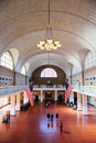 New York City Ellis Island Great Hall Stock Photography