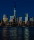 New York City Financial District, Manhattan blue hour Royalty Free Stock Photo