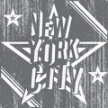 New York City grunge typography poster, t-shirt Printing design, vector Badge Applique Label Royalty Free Stock Photo