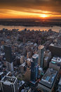New York City Hudson River sunset Stock Photography